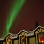 Northern Lights over the gables