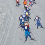 Snot skiers on Chena River